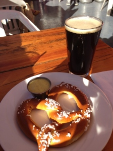 Brown ale and a salty pretzel- perfect post run!