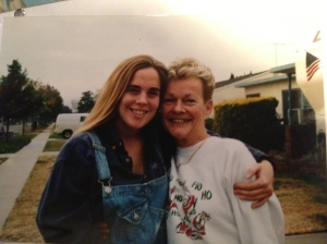 Mom & Me in '92.  I was apparently considering farming...