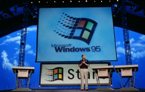 Bill launching Windows 95