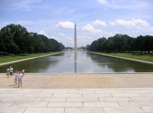 The Lincoln Memorial Reflecting Pool is nearly a third of a mile long.