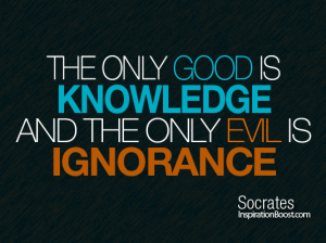 Socrates was pretty smart. Could be he's on to something.